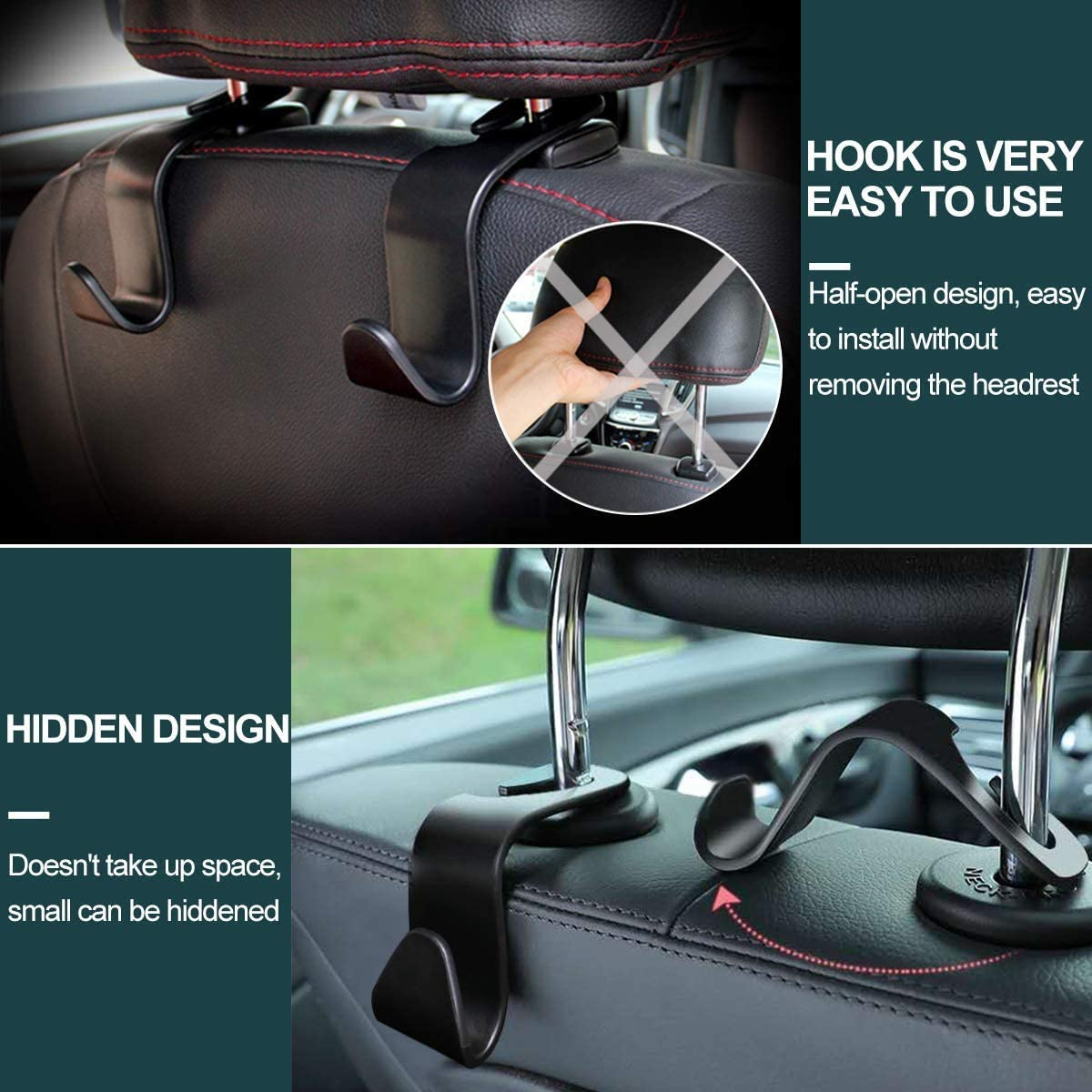 Jeteven Car Seat Gap Filler,Side Pocket Organizer PU Leather Car Front Seat Storage Box with Cup Holder USB Charging 2 Packs Car Gap Holder