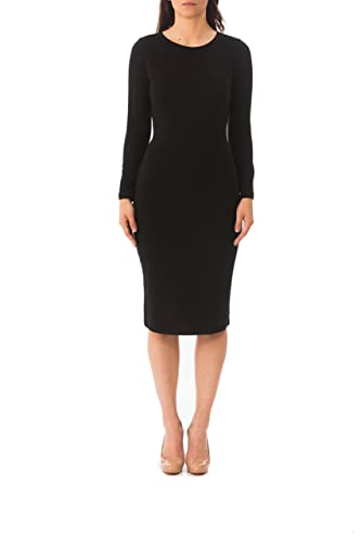Karen Michelle LA Women's Long Sleeve Layering/Sheath Dress 2X Black