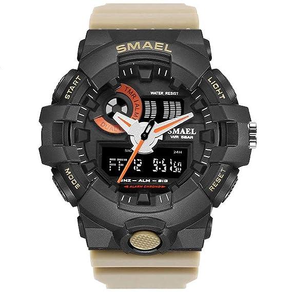 Blisfille Reloj Hombre Marron Reloj Pulsera Mujer Reloj para Deportistas Reloj con Ojos Reloj Digital Sumergible Hombre: Amazon.es: Deportes y aire libre
