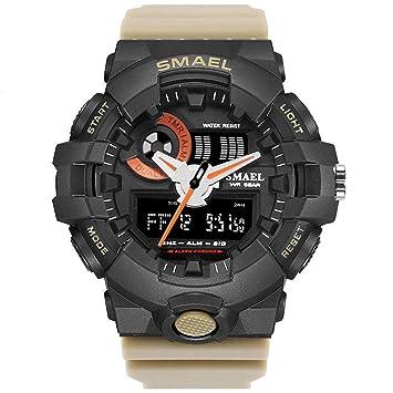Blisfille Reloj 60 Reloj Hombre Inteligente Deportivo Relojes 24 Horas Reloj Digital Dorado Reloj con Varias Correas: Amazon.es: Deportes y aire libre