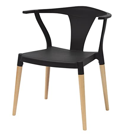 Amazon.com - Icon Series Black Modern Accent Dining Arm ...