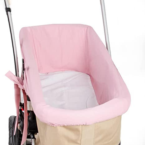 Funda Capazo Interior Casi Universal y Bugaboo- Color rosa maquillaje-Danielstore