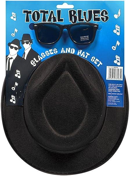 New blues Brothers cappello e occhiali da sole Shades Fancy Dress set Stag  costume gangster  Amazon.it  Abbigliamento ddab73ab3e8b