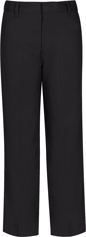 CLASSROOM Boys' Uniform Flat Front Pant with Adjustable Waist: Clothing