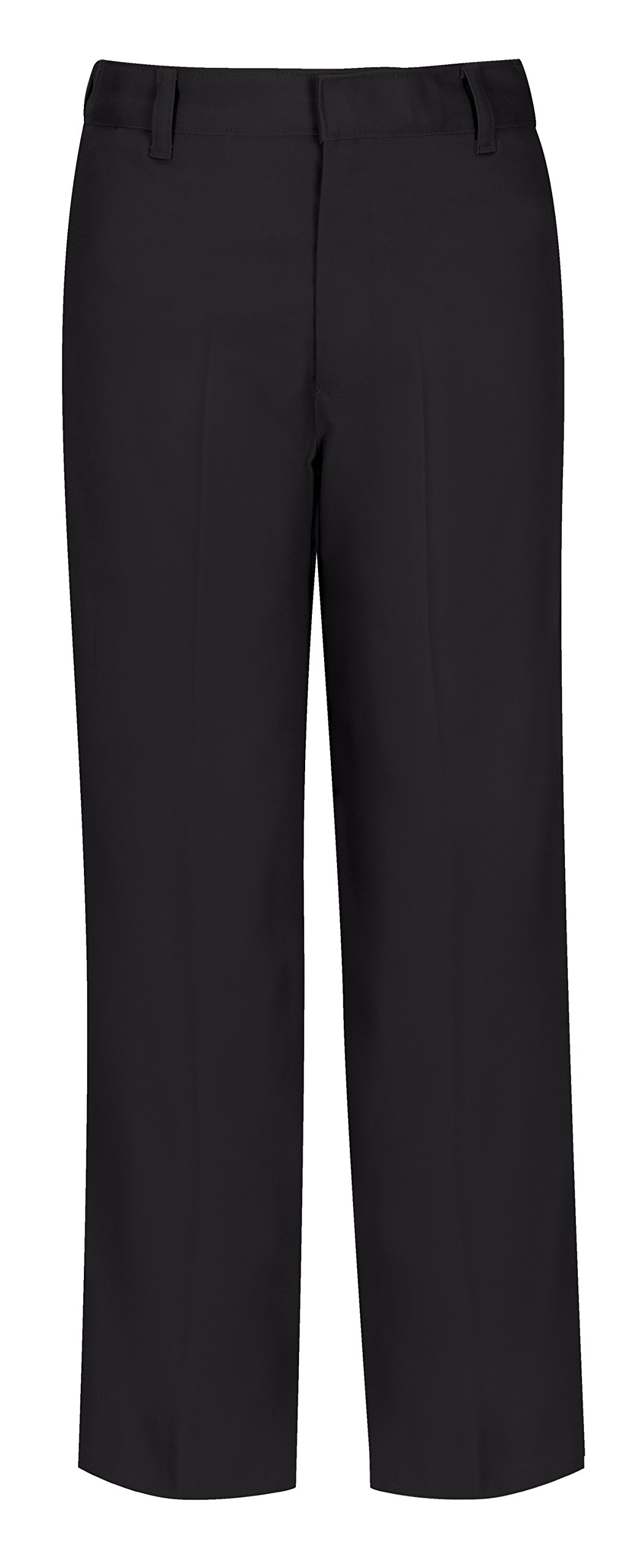 CLASSROOM Big Boys' Husky Flat Front Pant, Black, 20H