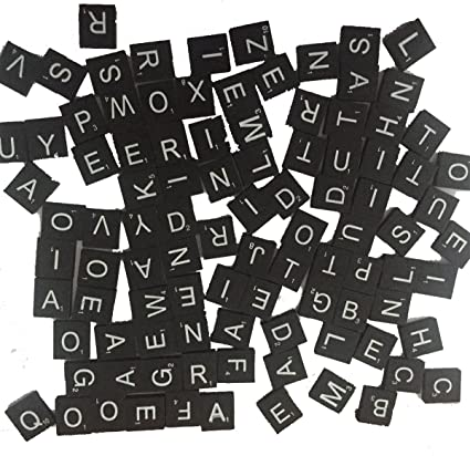 TEN USA! Letter P Maroon /& Silver Scrabble Letter Tiles A to Z In Stock 10