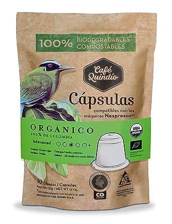 Café Quindío Orgánico Nespresso® Cápsulas de Café, 10 Cápsulas