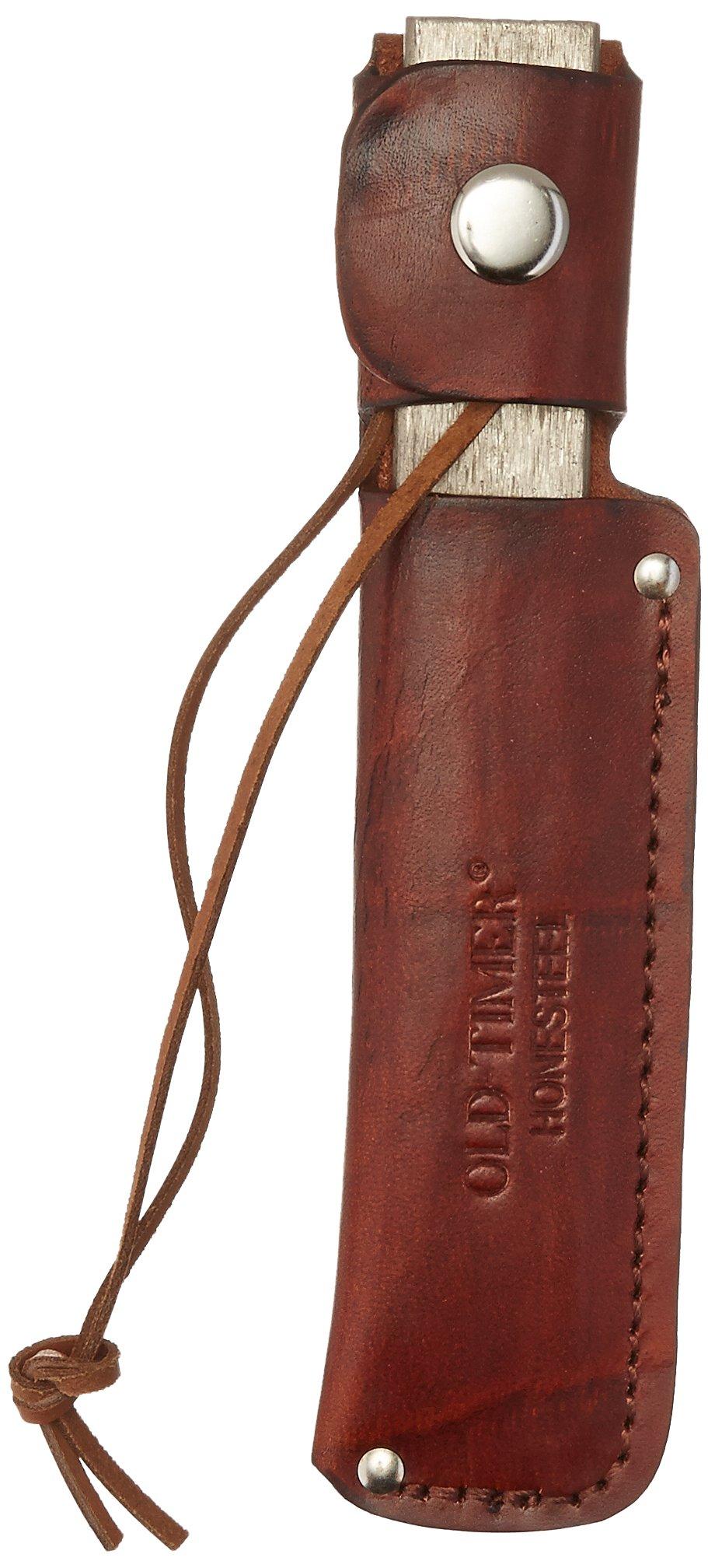 Old Timer HS1 Honesteel with Brown Leather Belt Sheath