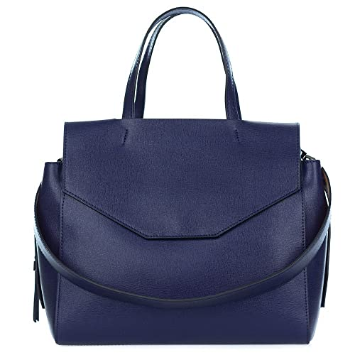 706644b0d583 Amazon.com: Gianni Chiarini Italian Made Navy Blue Leather Large Structured Tote  Bag with Pockets: Shoes