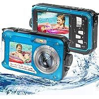 Waterproof Digital Camera Underwater Camera Full HD 2.7K 48MP Waterproof Camera with Dual Screen   16X Digital Zoom…