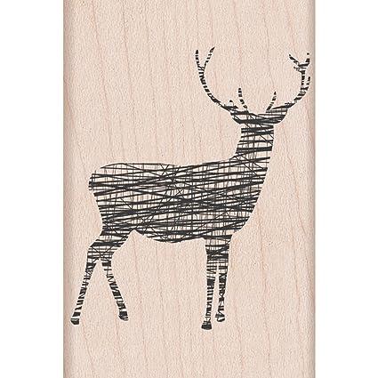 Amazon Hero Arts Rubber Stamps Cross Hatch Reindeer