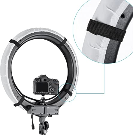 KUIDAMOS Stable Color Temperature Flash Diffuser,for Makeup,for Live Selling Products 14 inch ring diffuser white