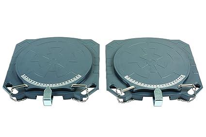 GUNSON 77158 - Tocadiscos para dirección (Aluminio, 4000 kg, 2 ...