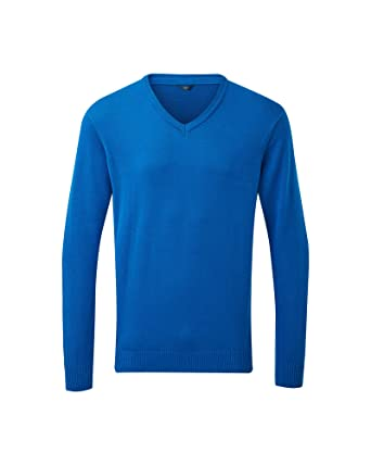 a4e99a82997 Cotton Traders Mens Comfortable Casual Design Regular Fit Cotton V Neck  Jumper at Amazon Men s Clothing store