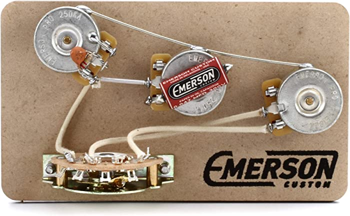 Emerson Custom 5-Way Blender Prewired Kit for Fender Stratocasters - 250Kohm Pots