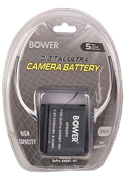 Bower XPDGP4 Digital Camera Battery for GoPro AHDBT 401 Hero 4  Black  Batteries