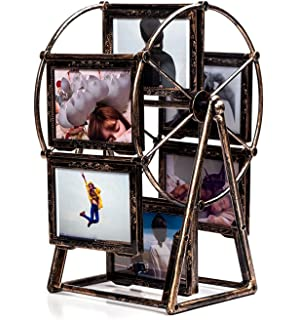 Leecum Ferris Wheel Photo Frame 5 Inch Retro Style Can Rotated Sets for Prop Desk Bedside