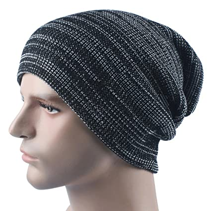Amazon Com Challyhope Men Comfortable Warm Cashmere Winter Crochet