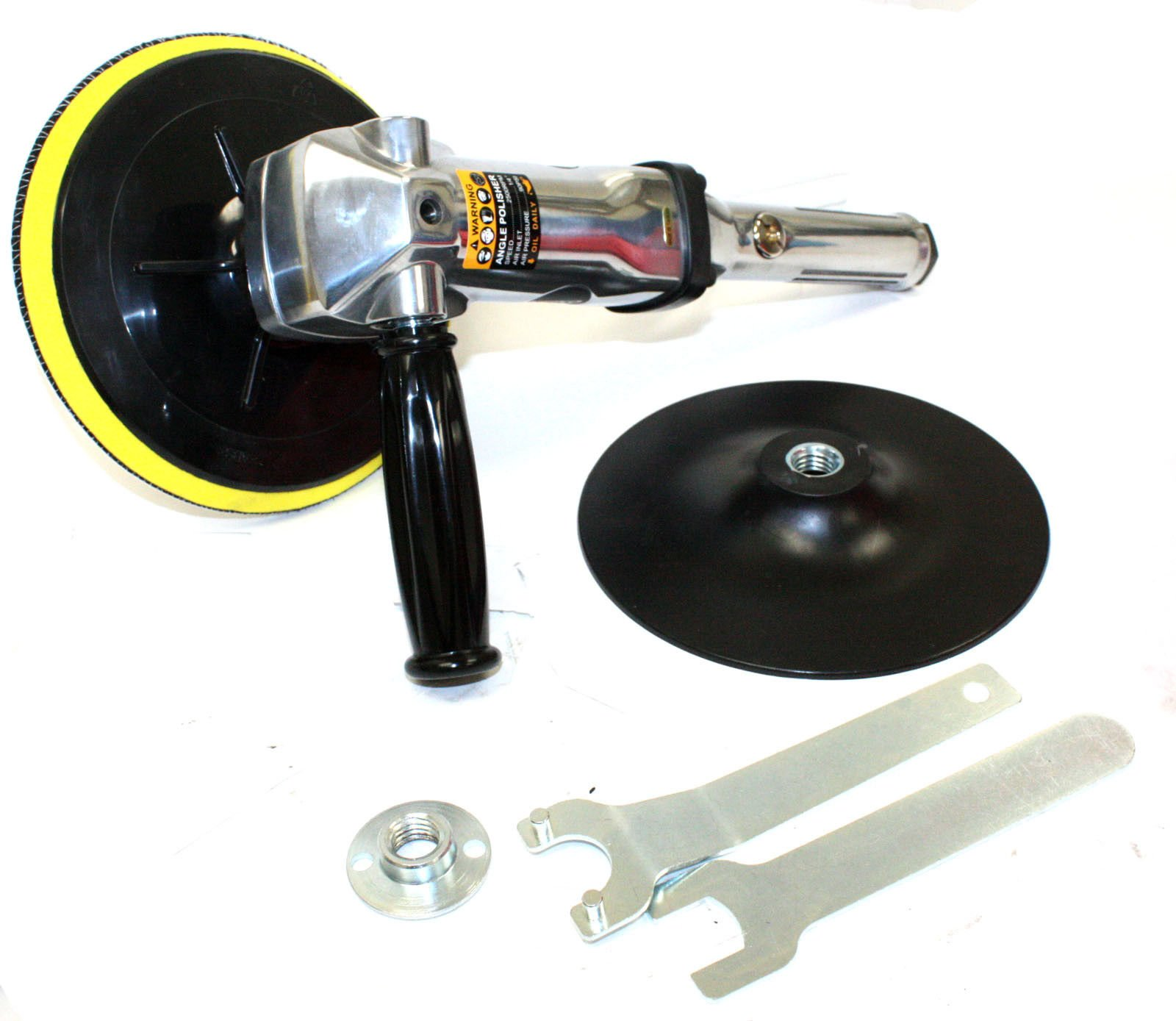 M2 Outlet 7'' Stainless Pneumatic Variable Speed 1,500-2,600 RPM Air Angle Polisher Buffer by M2 Outlet (Image #2)