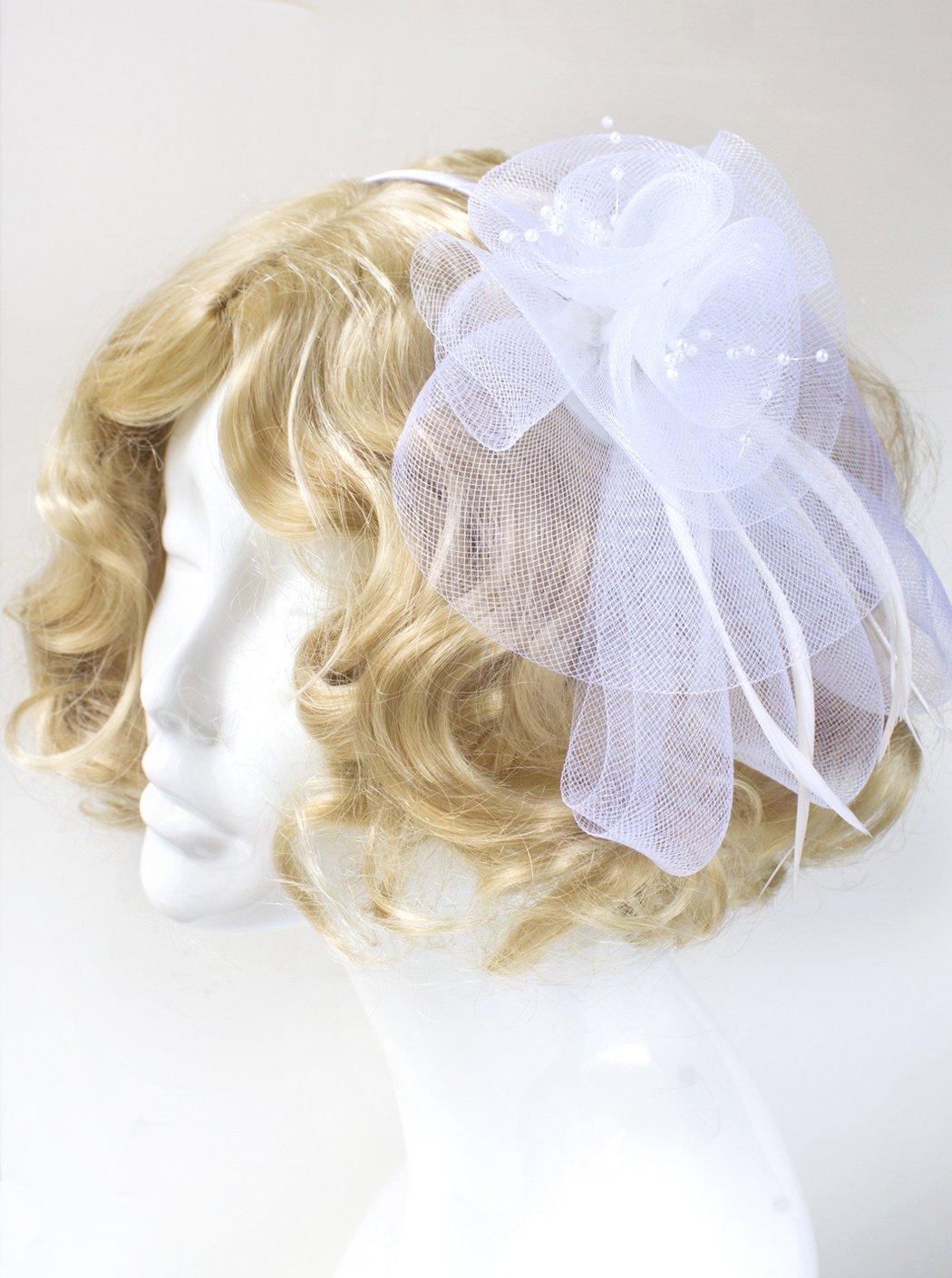 Kentucky Derby Hat White Fascinator Hat
