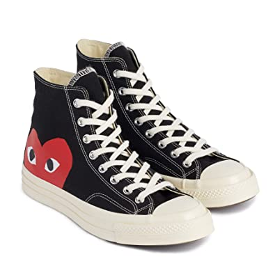 Comme des Garçons Play x Converse High Black: Amazon.co.uk ...