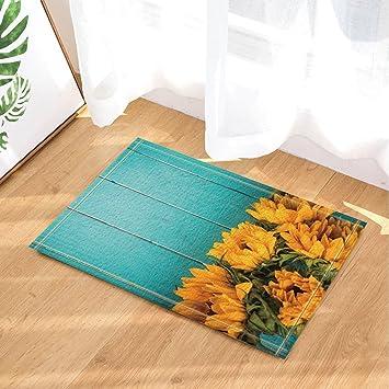 Amazon De Cdhbh Blumen Decor Sunflower Auf Turkis Holz Old Board