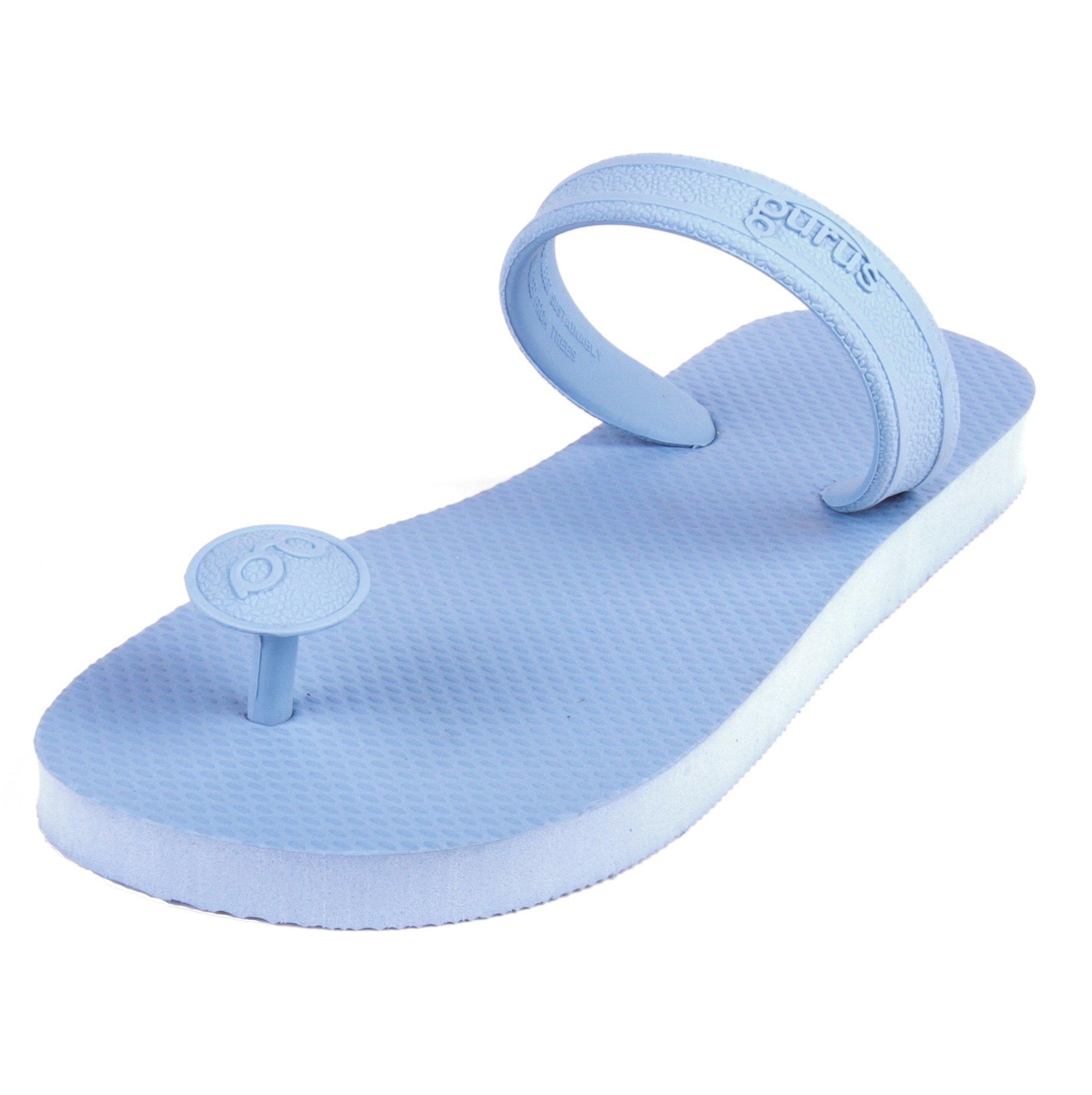 Gurus Men's Sustainable Sandals, Monsoon Natural Rubber Flip Flops, Size 12/13 US by Gurus (Image #1)