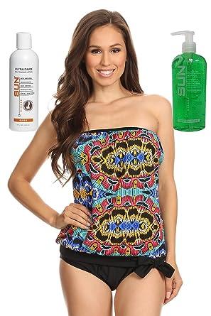 d4bb783168e Dippin' Daisy's Blouson Tankini Swimwear for Women | Beadwork Size 8 | with Dark  Self