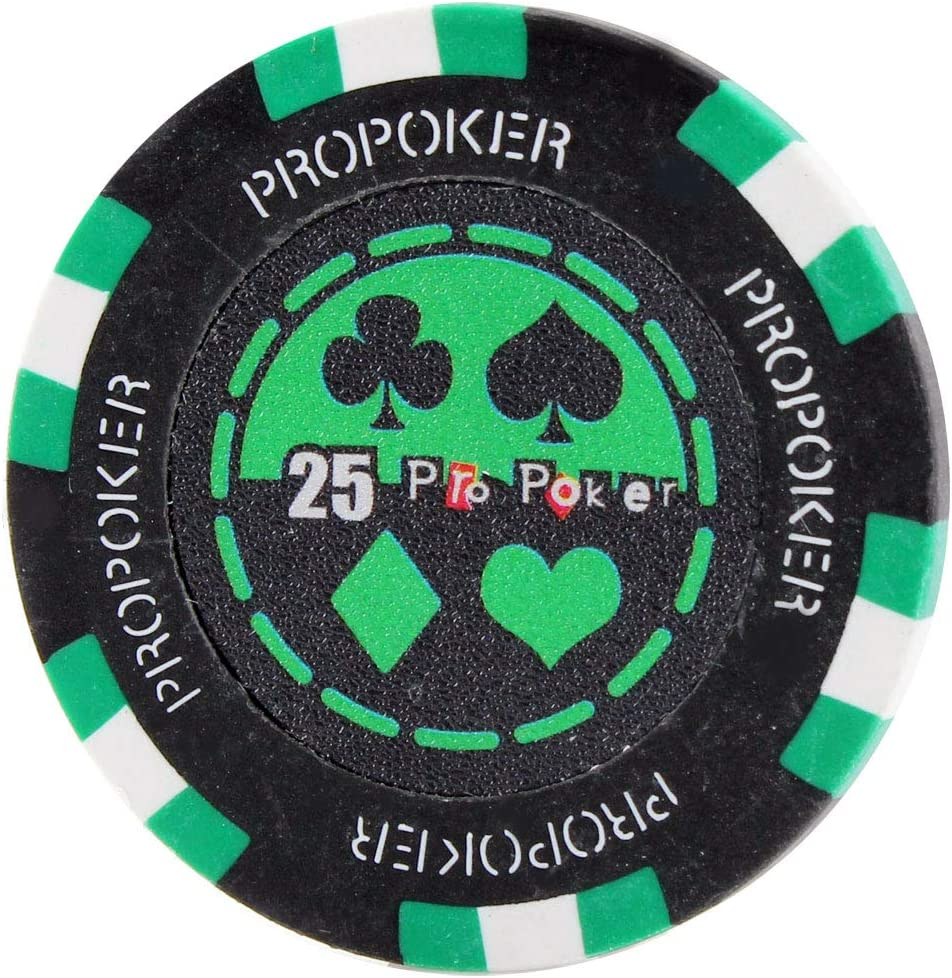 Versa Games Pro Poker Chips in 13.5 Gram Weight Choose Colors Pack of 50