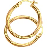 Citerna 9 ct Yellow Gold UER 041Y Ladies Hoop Earrings