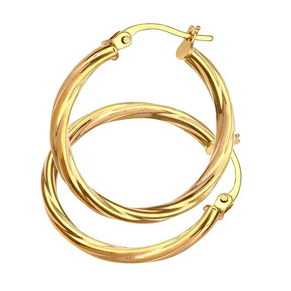 Pendientes para Mujer de Oro Amarillo 9Khttps://amzn.to/2YVATpt