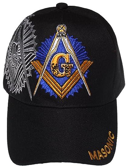 e811b422e45 Amazon.com  Mason Baseball Cap Master Masonic Black Hat and Sticker ...