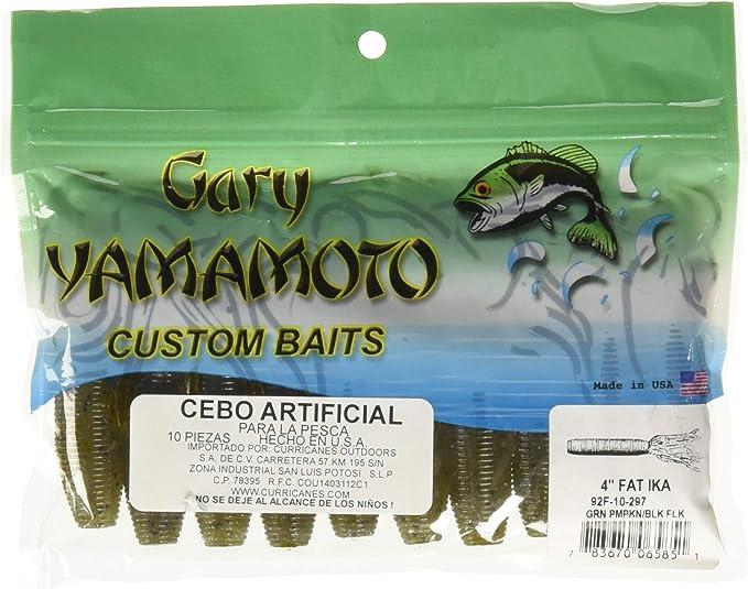 Gary Yamamoto Ika 4 Inch FAT 92F-10 Solid Tube Soft Plastic Bait Any 12 Colors