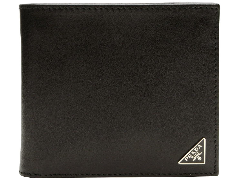 (プラダ) PRADA 財布 二つ折り メンズ ブラック サフィアノレザー 2mo738vit-nero ブランド [並行輸入品] B01NBFYVM7