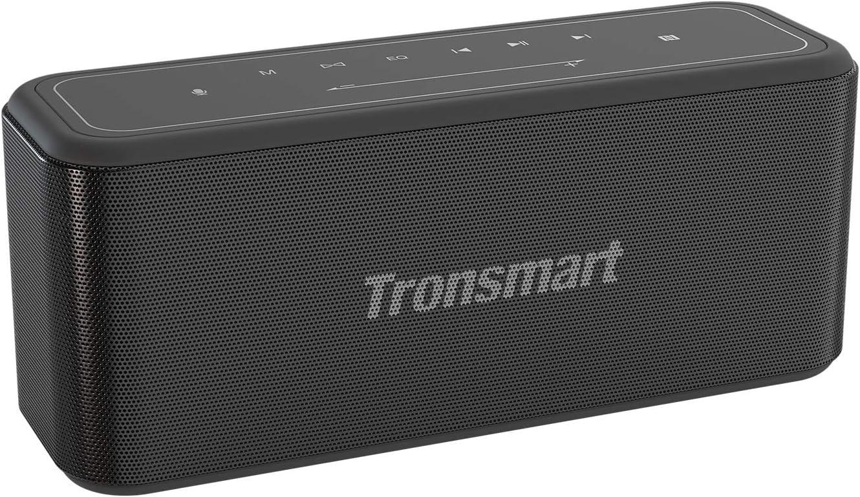 Tronsmart Mega Pro Altavoz Bluetooth 60W,Altavoz inalámbrico Portátil con TWS & NFC,Sonido Digital 3D,Panel Táctil,10H de Reproducción Continua y Manos Libres para Fiesta, Hogar, Playa, Viajes - N