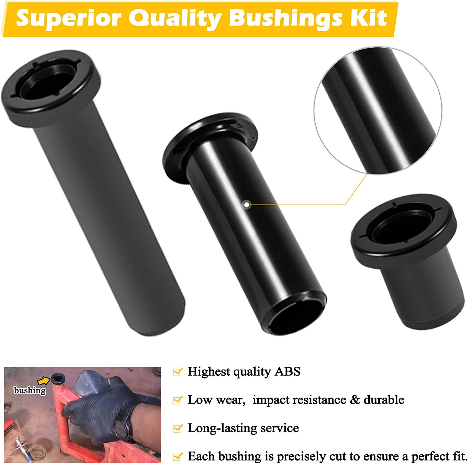 5439732 5436973 28 Pieces Complete Front /& Rear Control A-Arm Bushings Kit Fits for 2008-2014 Polaris RZR 800 // RZR 4 /& S 800 Replaces for 5439874