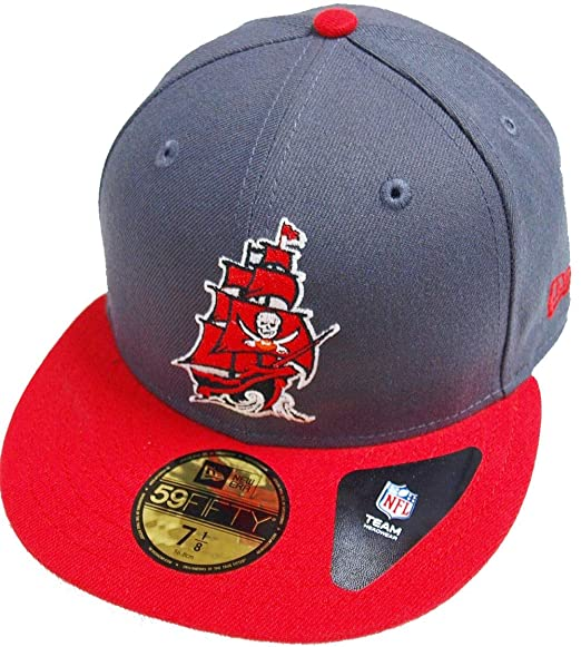 New Era Tampa Bay Buccaneers Ship Logo Graphite Red NFL Cap 59fifty 5950  Fitted Basecap Kappe Men Special Limited Edition  Amazon.co.uk  Clothing 1e4f253ee