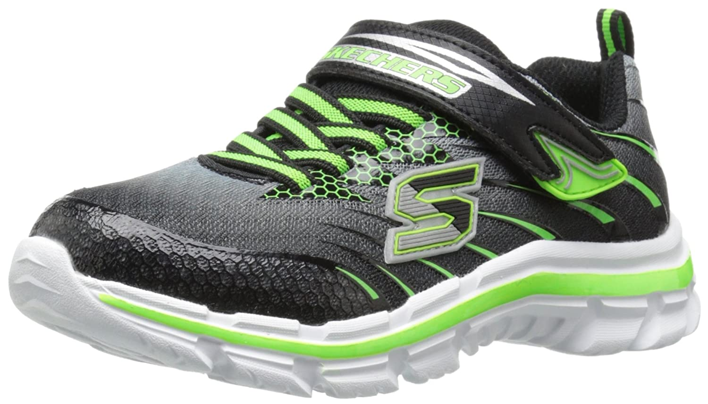Skechers Kids Nitrate Velcro Strap Sneaker (Little Kid/Big Kid) 95342L