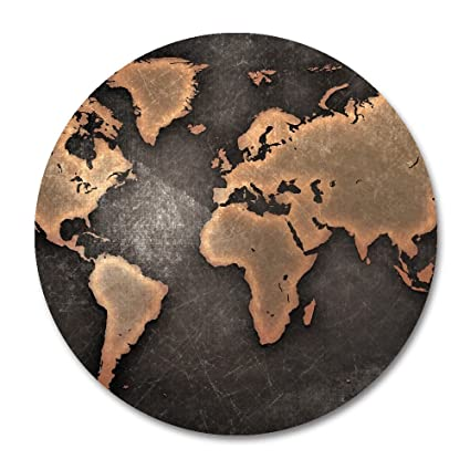 Amazon map mouse pad by smooffly vintage world map mousepad map mouse pad by smoofflyvintage world map mousepad round non slip rubber mouse pad gumiabroncs Image collections