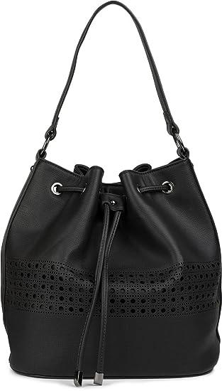 3b80ed5edfd02 styleBREAKER Bucket Bag Beuteltasche mit Cutout Muster ...