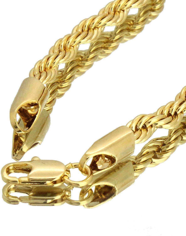 L /& L Nation 14k Gold Plated 100/% EMOJI Swag Pendant Hip Hop 4mm 18 Rope Choker Chain Bundle Necklace Set