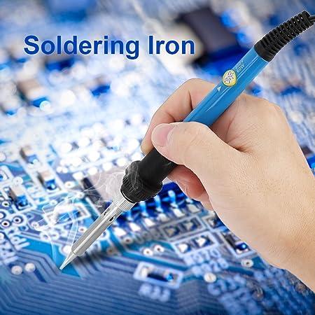 Yosoo 60 W eléctrica Soldador Soldadura Temperatura Regulable con conector seguro y fácil uso para varios reparada Soldadura Soldadura Hierro Herramientas: ...