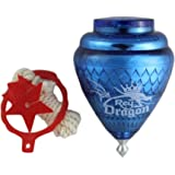 3 Pack Rey Dragon Durable Plastic Spin Tops For Kids Metal Tip Made in Mexico -