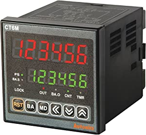 AUTONICS CT6M-2P4 Counter&Timer, W72xH72mm, 6-Digit, LED, 2 Preset, 2 Relay & 3 NPN Output,100-240 VAC.