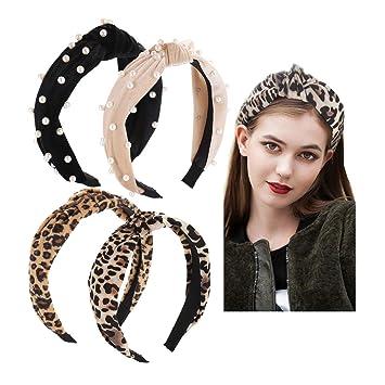 Knot Elastic Girls Wide Hairband Women Headband Leopard Print Ladies Hair Hoop