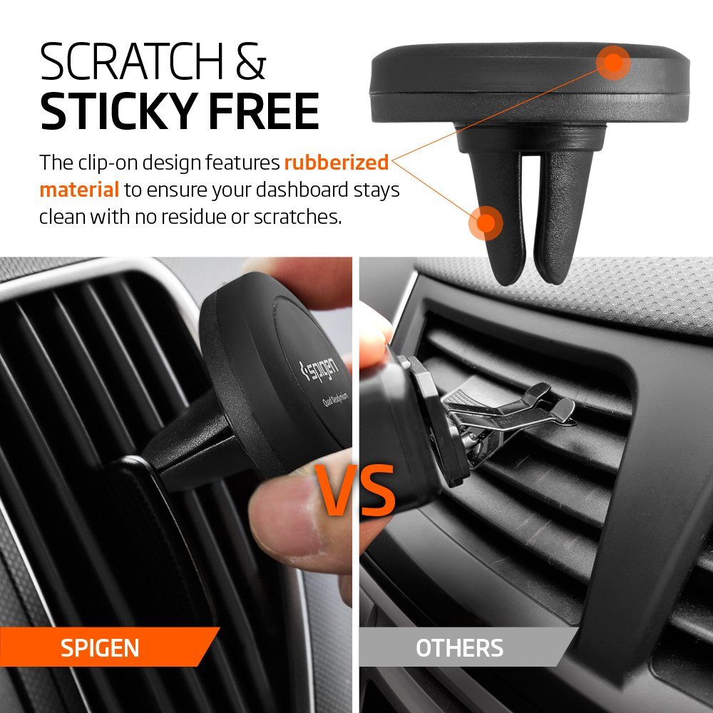 Spigen air vent magnetic car mount phone holder 8