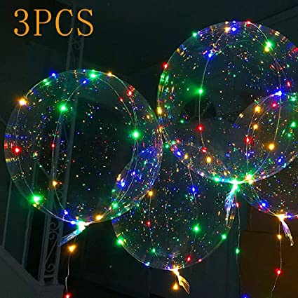 Amazon.com: LED Light Balloon, Fillable Transparent Balloons ...