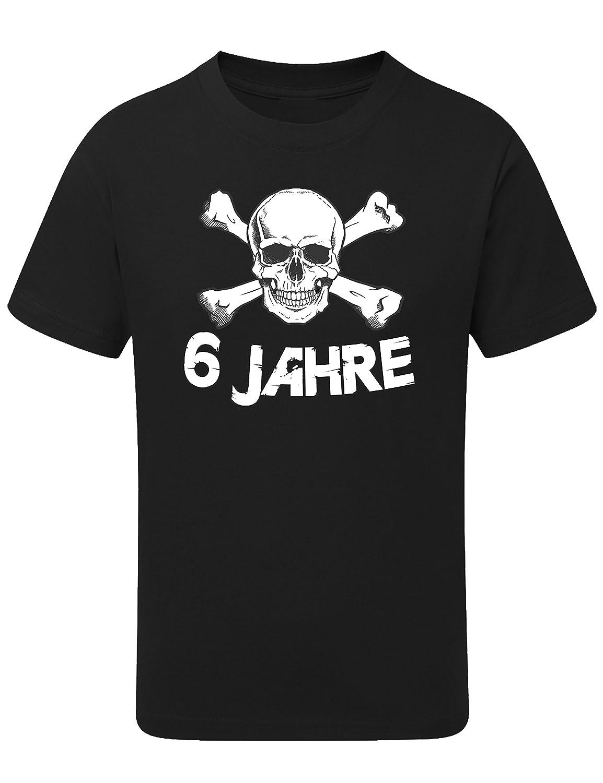 Geburtstags Shirt: Totenkopf 6 Jahre Junge - Geburtstags T-Shirt 6 Jahre Kind Jungen - Geschenk Zum 6. Geburtstag - Junge T-Shirt 6 Geburtstag - Geburtstag-Shirt Kinder 6