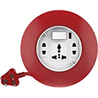 Goldmedal Curve Plus 205129 Plastic 240V G-Dial 3-Pin 4m Cable Extension Cord (White and Red)