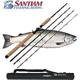 Santiam Fishing Rods Travel Rod 4 Piece 7'6'' 15-30lb MF Graphite Casting Rod